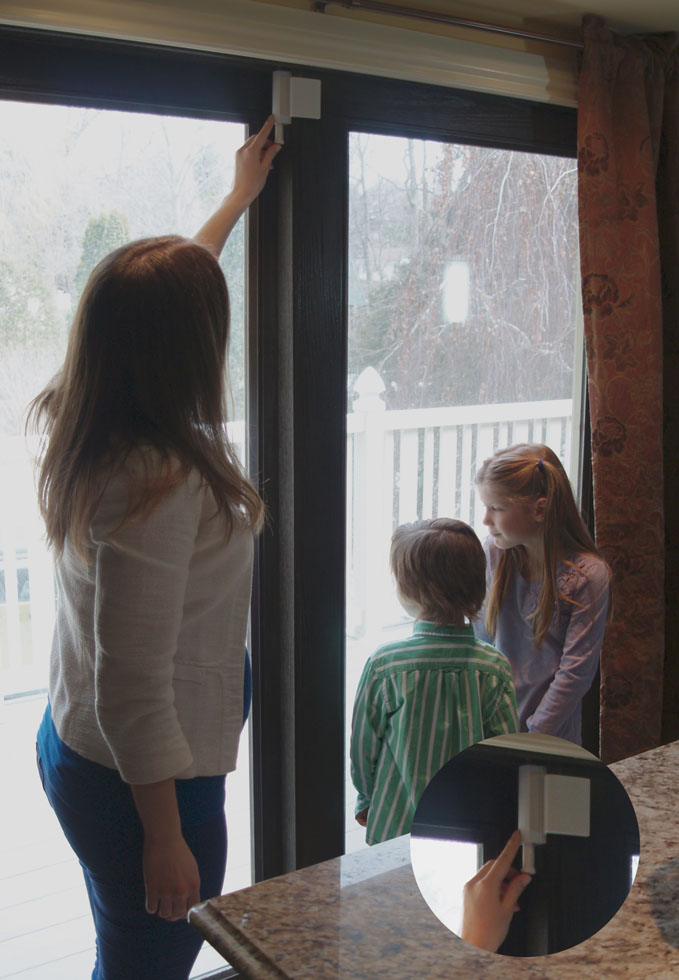 The Patio Door Guardian Childproof Sliding Doors